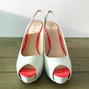 Guess Patent Leather Slingback Heels